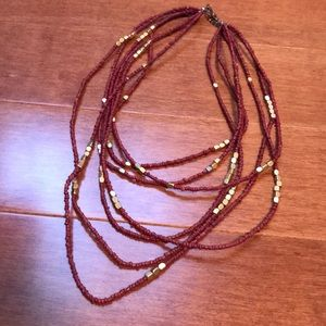 Urban outfitters seed bead adjustable necklace